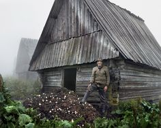 Haunting Photos of a Crumbling Post-Communist World | Costica stands in front of a hut in Muntele Mare, West Romania, 2012.  Tamas Dezso, courtesy of Robert Koch Gallery, San Francisco  | WIRED.com