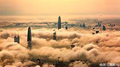 Rising through the clouds: Shenzhen China [1200 675]