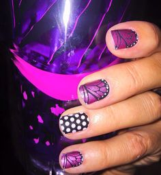 I am loving these new Jamberry butterfly nail wraps!