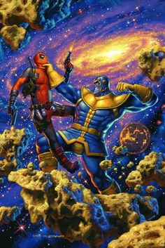 Good News book: Télécharger Deadpool vs Thanos Livre eBook France 【 Marvel Universe, Marvel Comics Art, Marvel Dc Comics, Marvel Villains, Pop Marvel, Marvel Heroes, Comic Book Covers, Comic Book Heroes, Comic Books Art