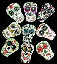 Day of the Dead Christmas ornaments
