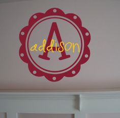 cute for a childs bedroom door, can make with my cricut