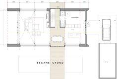 Woning te Epse met rieten kap opgebouwd uit schoonbeton prefab elementen. Dingemans Architectuur |