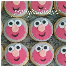 Party favors. Elmo cookies.