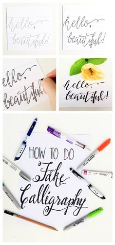 Getting Started With Fake Calligraphy | Hand Lettering