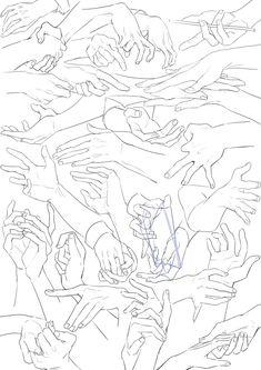 爆浆粉红 (@RasterizeGirl) | Drawing Skills, Drawing Poses, Manga Drawing, Drawing Tips, Art Sketches, Art Drawings, Hand Drawing Reference, Poses References, Hand Art