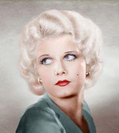 "Jean Harlow, the origin of ""blonde bombshell""."