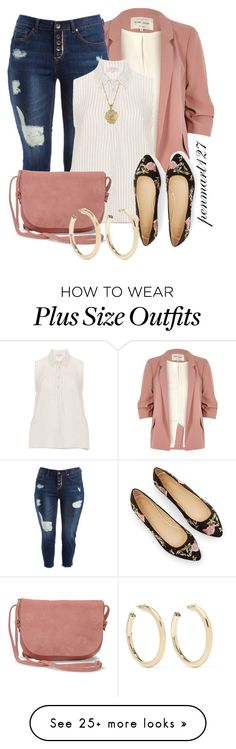 featuring River Island, Dollhouse, TOMS, 2028 and Kenneth Jay Lane Curvy Outfits, Plus Size Outfits, Cool Outfits, Casual Outfits, Fashion Outfits, Curvy Fashion, Plus Size Fashion, Womens Fashion, Fashion Trends