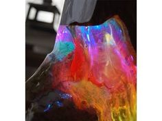 neo Woodstock Lichtskulptur light sculpture resin ToSaLignea - YouTube