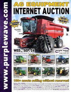 Ag Equipment Auction  September 26, 2012  http://purplewave.co/120926