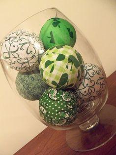 Tutorial: Decorative Fabric Balls- St. Patrick\'s Day Edition