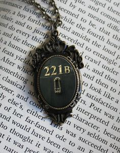 SHERLOCK BBC 221B Door Pendant Necklace by ConsultingFanGeeks, $12.99