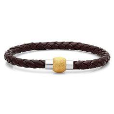 Leather & Gold LIV Bracelet - Save 83% Just $9.99