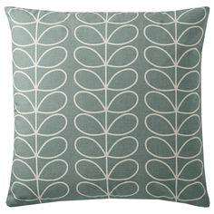 BuyOrla Kiely Linear Stem Cushion, Duck Egg Online at johnlewis.com