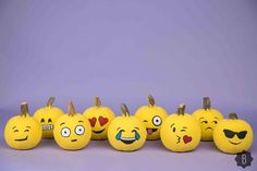 Make Perfect Emoji Pumpkins For Halloween In 3 Super Simple Steps — DIY Fete Halloween, Holidays Halloween, Halloween Pumpkins, Halloween Crafts, Holiday Crafts, Holiday Fun, Happy Halloween, Halloween Decorations, Halloween Ideas