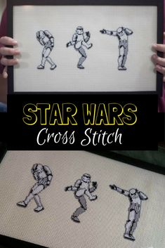 Dancing Stormtroopers Star Wars Cross Stitch Pattern #disney #starwars #stormtroopers #affiliate