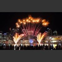 See fabulous fireworks light up the Sydney night sky at Harbourside in Darling Harbour.