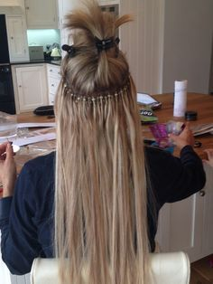 100 human hair extensions before after micro ring weft northern micro ring hair extensions 12 pmusecretfo Choice Image