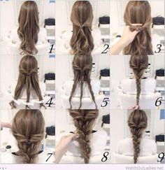Braid hairstyle tutorial, braids for long hair. Br..