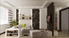 wohnzimmer  modern einrichten schwarz weiß indirekte beleuchtung wand fototapeten