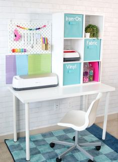 craft desk diy small spaces * craft desk diy ` craft desk diy small spaces ` craft desk diy budget ` craft desk diy corner ` craft desk diy organizing ideas ` craft desk diy small spaces bedrooms ` craft desk diy do it yourself Craft Room Storage, Craft Tables With Storage, Craft Desk, Room Organization, Storage Ideas, Craft Room Tables, Desk Crafts, Pegboard Craft Room, Ikea Craft Room