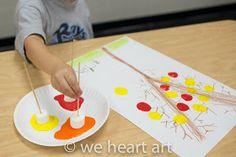 we heart art: Marshmallow Stamping!!