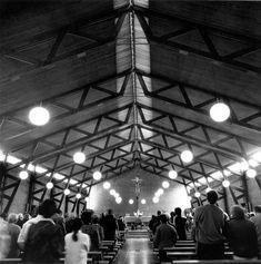 MBM. Iglesia del Redentor. 1957-1968 interior Historical Sites, Brick, Louvre, Interior, Wood, Blue Prints, Indoor, Bricks, Interiors