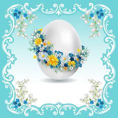 Fond - Printable - Background - Blue - Easter