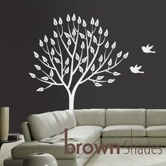 White Tree Decal