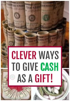 18 Brilliant & Creative Ways to Gift Money! It's so fun & smart to package up cash presents this way! Check out all 18 unique money gift ideas great for last minute options too Creative Money Gifts, Creative Christmas Gifts, Birthday Money Gifts, Gift Money, Money Gifting, Money Lei, Diy Birthday, Ways To Hide Money, Folding Money