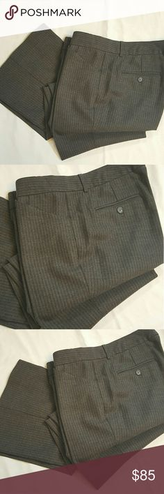 Theory Wool dress pants Theory Wool dress pants with a grey faded stips in perfect condition like new. 98% wool 2%lycra 31in inseam. Theory Pants Straight Leg