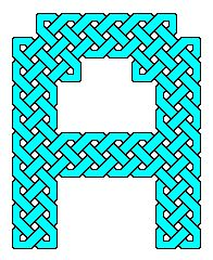Capital letters as Celtic knot