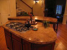 WoodForm™ Concrete - traditional - kitchen - new york - JM Lifestyles Stained Concrete Countertops, Acid Stained Concrete, Concrete Wood, Concrete Design, Concrete Floors, Kitchen Countertops, Kitchen Redo, Kitchen Remodel, Kitchen Ideas