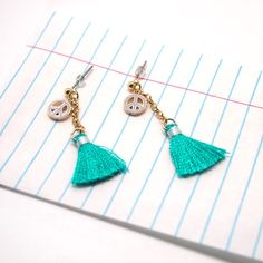 Tassel Earring Cutie turquoise - Noi Home & Fashion