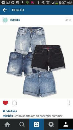 I want distressed jean shorts like those on the very top, same lenght not too short, same color, rolled up like those and very distressed!