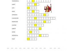 Drugie tablice kamienne - krzyżówka - Biblia Dla Dzieci Crossword, Bible, Crossword Puzzles