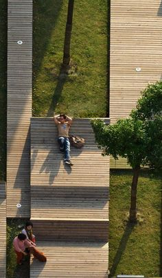 Kic Park at Yangpu, Shanghai, China, by 3GATTI Architecture Studio. Click image for details & visit our Street Furniture board >> http://www.pinterest.com/slowottawa/street-furniture/