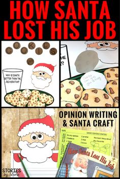 Can you imagine what would happen if Santa lost his job? Stephen Krensky has done just that with How Santa Lost His Job. Here's an opinion writing activity and craft you can use with your students after reading this book.