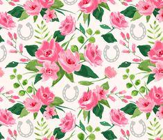 Run for the Roses fabric by sarah_treu on Spoonflower - custom fabric