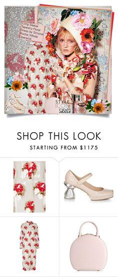 """Floral Simone Rocha by sasoza"" by sasooza ❤ liked on Polyvore featuring Simone Rocha, Charlotte Tilbury, floraldress, simonerocha, inspo, FashionBook, GetTheLook, getthemood, moodboard and styleicon"