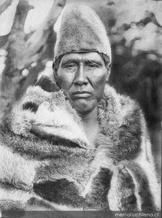Cazador Selk'nam, hacia 1920