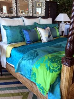 Beautiful bedding from Dianne Davant Interior Design.
