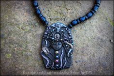 Necklaces polymer clay galactic fairy chakras glass by SweetlyART, $52.00