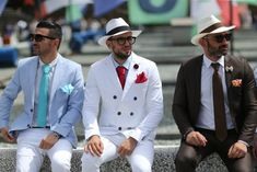pitti uomo mens street style white double breasted suit blue suit brown suit street style