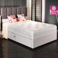 Memory Comfort Collection 2 Drawer Divan Bed   Dunelm