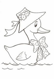 Duck color page, animal coloring pages, color plate, coloring sheet,printable coloring picture is part of Duck drawing - Baby Embroidery, Embroidery Patterns Free, Hand Embroidery Designs, Animal Coloring Pages, Coloring Books, Colouring, Fabric Painting, Painting & Drawing, Drawing Drawing