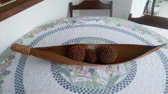 Fruteira feita com a casca do coqueiro