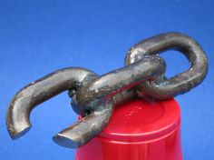 Welded Chain Bottle Opener by MetalCreated on Etsy