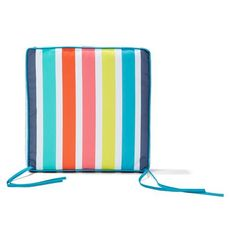 Striped Outdoor Chair Pad