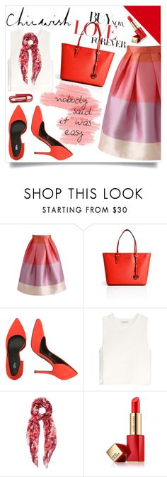 """""""Chicwish sponsored contest ♥"""" by av-anul ❤ liked on Polyvore featuring Chicwish, MICHAEL Michael Kors, J.W. Anderson, Alexander McQueen, Estée Lauder and avanul"""
